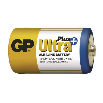 Батарейка GP Ultra Plus LR20 Alkaline 1.5V