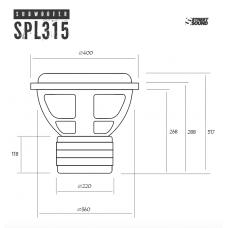 Сабвуферный динамик  STREET SOUND SW-SPL315