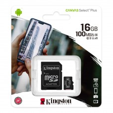 Карта памяти Kingston Canvas Select Plus UHS-I A1 Class10 16GB 100MB/S
