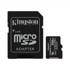 Карта памяти Kingston microSD Canvas Select Plus А1 Class10 UHS-I 256GB (100mb/s)