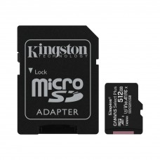Карта памяти Kingston microSD Canvas Select Plus А1 Class10 UHS-I 512GB (100mb/s)