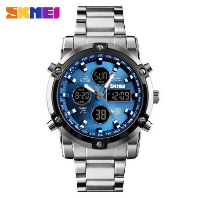 Skmei 1389 Silver-Black-Blue