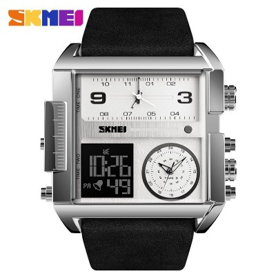 Skmei 1391 Sliver White Black Wristband