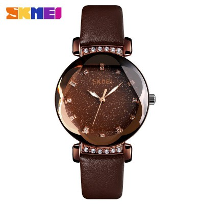 Skmei 9188 Brown-Cuprum Leather