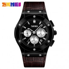 Skmei 9157 Brown-Black-Silver