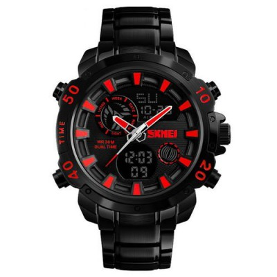 Skmei 1306 Steel Black-Red