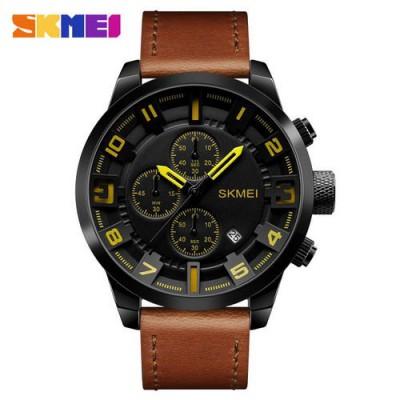 Skmei 1309 Brown-Black-Yellow
