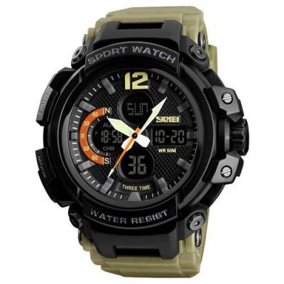 Skmei 1343 Black-Khaki Wristband