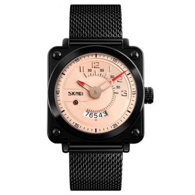 Skmei 9172 Steel Black-Gold-Salmon
