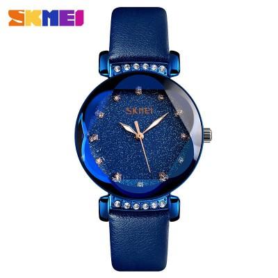 Skmei 9188 Blue Leather