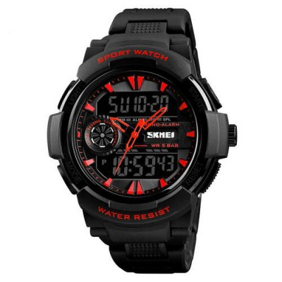 Skmei 1320 All Black-Red