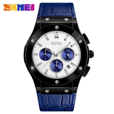 Skmei 9157 Blue-Black-White-Blue