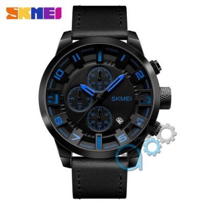 Skmei 1309 All Black-Blue