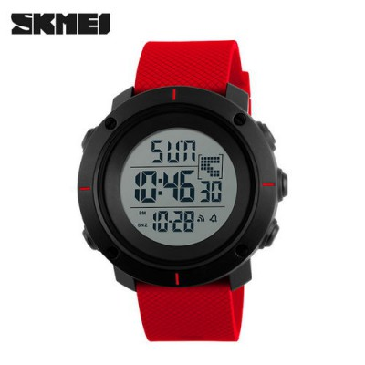 Skmei 1212 Black-Red Wristband