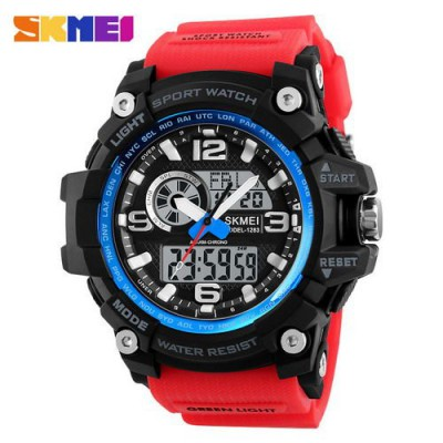 Skmei 1283 Black-Blue-Red Wristband