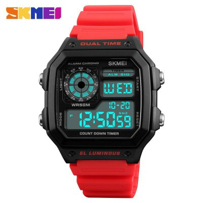Skmei 1299 Black-Red Wrisband