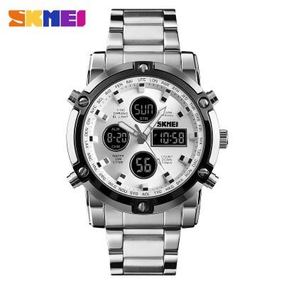 Skmei 1389 Silver-Black-Silver