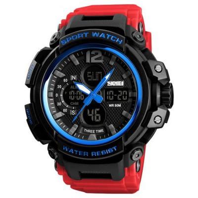 Skmei 1343 Black-Blue-Red Wristband