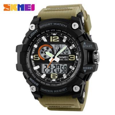 Skmei 1283 Black-Khaki Wristband