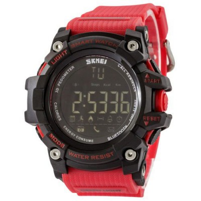 Skmei 1227 Black-Red Wristband