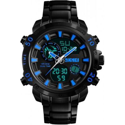 Часы Skmei 1306 Steel Black-Blue
