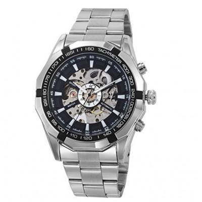 Часы мужские механические Winner Timi Skeleton Sport Silver
