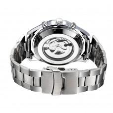 Часы мужские механические Winner 8042 Silver-Black-Silver