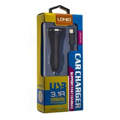 Автомобильное зарядное устройство Ldnio DL-C23 (2USB 3.1A) + кабель Type-C