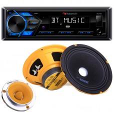 Комплект двухполосной акустики N53-08901.E88 с магнитолой