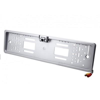 Камера заднего вида в номерной рамке UKC A480 LED Silver
