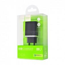 Сетевое зарядное устройство HOCO C42A VAST POWER QC3.0  Black 1USB