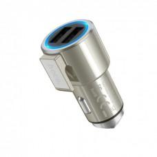 Автомобильное зарядное устройство Hoco Z33 Sword multi-function 2USB 3.1A Gold