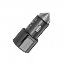 Автомобильное зарядное устройство Hoco Z33 Sword multi-function 2USB 3.1A Metal Grey