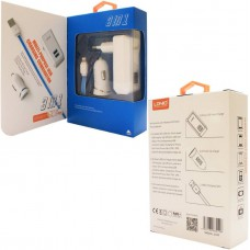 Универсальное зарядное устройство LDNIO S100 + кабель Apple Lightning White