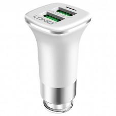 Автомобильное зарядное устройство Ldnio DL-C301 2USB 3.6A с кабелем microUSB