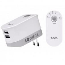 Сетевое зарядное устройство  Hoco С16 Smart Timing 2USB с таймером