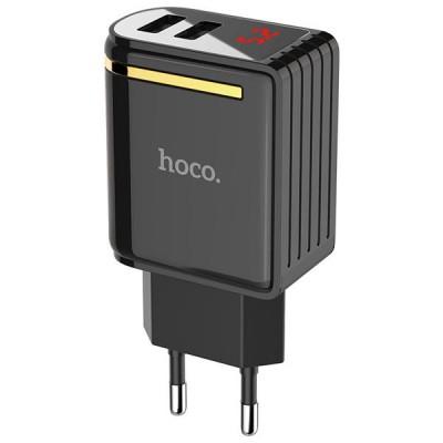 Сетевой адаптер Hoco C39A 2USB с дисплеем