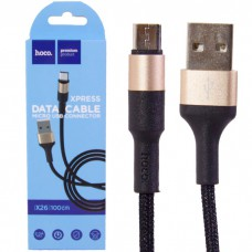 Кабель USB - Micro HOCO X26 1m Gold