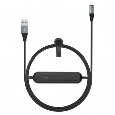 Кабель Hoco U22 Lightning + PowerBank 2000 мАч Black