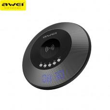 Портативная колонка AWEI Y290 Bluetooth с беспроводной зарядкой Black
