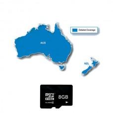 Карта Австралии и Новой Зеландии для навигаторов Garmin