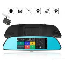 Зеркало-видеорегистратор Prime V17-55 (Android, Wi-Fi, Навигатор)
