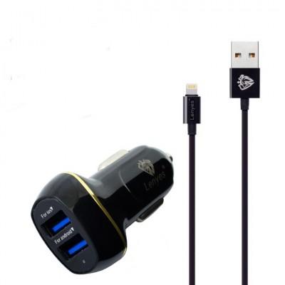 Зарядное Lenyes CA821 Apple Lightning 3.1 А