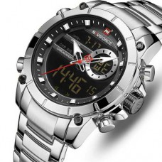 Часы Naviforce NF9163 Silver-Black